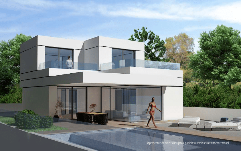 Luxueuses villas contemporaines neuves vendre for Modele de villa contemporaine