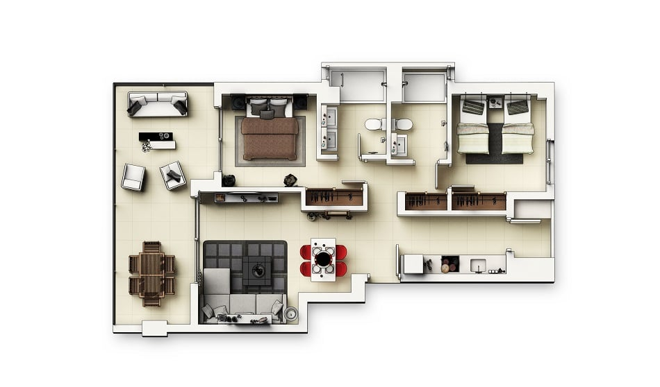 Appartements 3 chambres v3