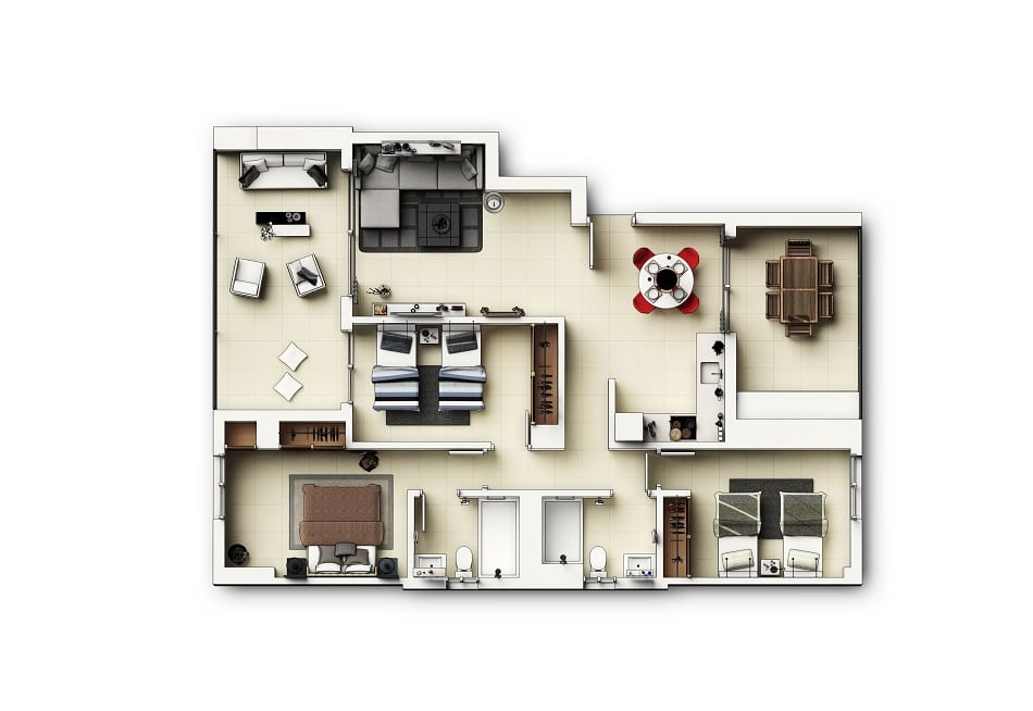 Appartements 3 chambres v2