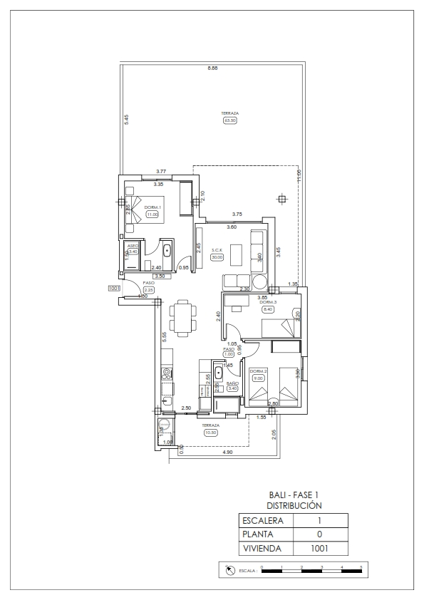 Plan appartement 1001